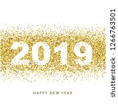 2019 happy new year. text...   Shutterstock .eps vector #1266763501