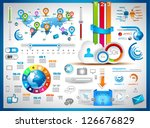 infographic elements   set of... | Shutterstock .eps vector #126676829