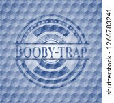 booby trap blue badge with... | Shutterstock .eps vector #1266783241