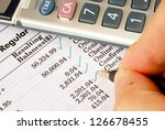 verify the monthly bank...   Shutterstock . vector #126678455