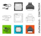 bitmap illustration of laptop... | Shutterstock . vector #1266786304