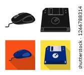 bitmap design of laptop and... | Shutterstock . vector #1266788314