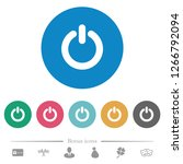 power switch flat white icons... | Shutterstock .eps vector #1266792094