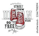 sneakers illustration for t... | Shutterstock .eps vector #1266798094