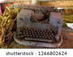 Old Typewriter Found In An Attic