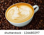 latte art  coffee in coffee... | Shutterstock . vector #126680297