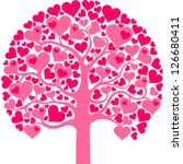 heart tree with heart leaf ... | Shutterstock .eps vector #126680411