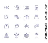 presents line icon set. gift... | Shutterstock .eps vector #1266810934