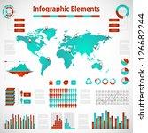 set elements of info graphics... | Shutterstock .eps vector #126682244