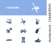vehicle icon set and cable car... | Shutterstock . vector #1266828544