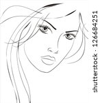 art sketching vector beautiful... | Shutterstock .eps vector #126684251