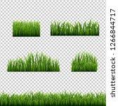 big set green grass borders... | Shutterstock .eps vector #1266844717