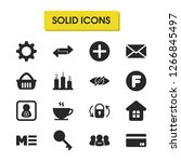 ui icons set with user image ...