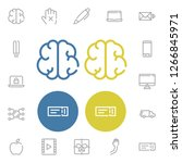 smartphone icon with brain ...