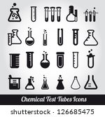 Chemical Test Tubes Icons...