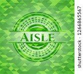aisle realistic green mosaic... | Shutterstock .eps vector #1266865567