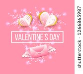 valentines day banner with... | Shutterstock .eps vector #1266865987