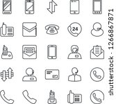 thin line icon set   phone... | Shutterstock .eps vector #1266867871