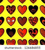 various hearts. seamless...
