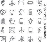 thin line icon set   bulb... | Shutterstock .eps vector #1266870244