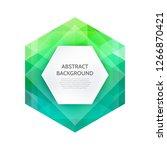 vector green geometric layout...   Shutterstock .eps vector #1266870421