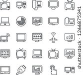 thin line icon set   plane... | Shutterstock .eps vector #1266875341