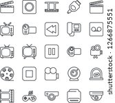thin line icon set   ticket... | Shutterstock .eps vector #1266875551