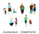 set of different parts of... | Shutterstock .eps vector #1266876214