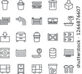thin line icon set   trash bin... | Shutterstock .eps vector #1266876607