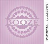 booze realistic pink emblem   Shutterstock .eps vector #1266878491