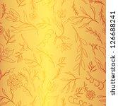 golden seamless flower pattern | Shutterstock .eps vector #126688241