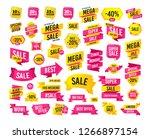 sale banner. super mega... | Shutterstock .eps vector #1266897154