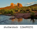 Cathedral Rock At Dusk In...