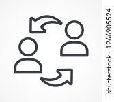 exchange  arrows icon....   Shutterstock .eps vector #1266905524