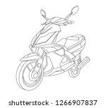 bike illustration  liner vector ... | Shutterstock .eps vector #1266907837