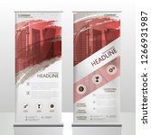 roll up banner stand template... | Shutterstock .eps vector #1266931987