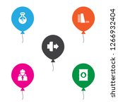 set of 5 industry icons set.... | Shutterstock .eps vector #1266932404