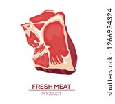 fresh meat icons in style flat. ... | Shutterstock .eps vector #1266934324