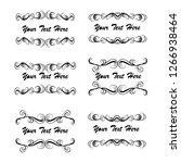 set of vector vintage frames on ... | Shutterstock .eps vector #1266938464