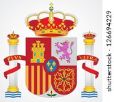 Coat of arms of Spain isolated on white background