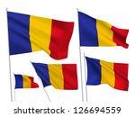 romania vector flags set. 5... | Shutterstock .eps vector #126694559