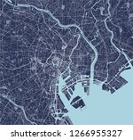 vector map of the city of tokyo ... | Shutterstock .eps vector #1266955327