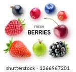 isolated fresh berries.... | Shutterstock . vector #1266967201
