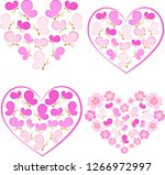 gentle romantic vector set of... | Shutterstock .eps vector #1266972997