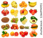 collection of fresh fruits... | Shutterstock . vector #1266994951