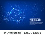 cloud computing network... | Shutterstock .eps vector #1267013011