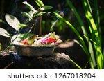 traditional balinese offerings... | Shutterstock . vector #1267018204