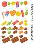 candies set. vector | Shutterstock .eps vector #1267025221
