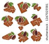 chocolate set. vector | Shutterstock .eps vector #1267025581