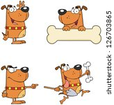Dogs Cartoon Mascot Characters...